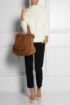 Chlo¨¦ | The Marcie medium textured-leather tote | NET-A-PORTER.COM ...