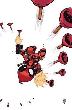 #Deadpool #Fan #Art. (Deadpool Vol.4 #7 VariantCover) By: Skottie Young. (THE * 5 * STÅR * ÅWARD * OF: * AW YEAH, IT'S MAJOR ÅWESOMENESS!!!™) ÅÅÅ+