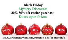 We are closed Thursday but Hours are 9-7am Friday! Come in and save!