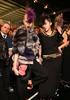 Cara-Delevingne-Fendi-show-backstage-Milan-Fashion-Week-AW2013