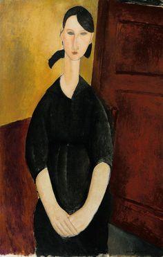 """""""Portrait of Paulette Jourdain"""" (1919) by Amedeo Modigliani"""