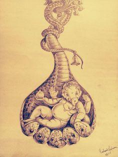 Ganesha Sketch, Lord Shiva Sketch, Ganesha Drawing, Lord Ganesha Paintings, Ganesha Art, Shiva Art, Krishna Art, Hindu Art, Shri Ganesh Images