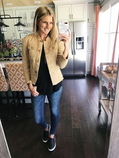 34 Ideas For Rainy Brunch Outfit Casual Casual Fall Outfits, Fall Winter Outfits, Autumn Winter Fashion, Spring Outfits, Cute Outfits, Modest Outfits, Military Jacket Outfits, Military Vest, Estilo Rock