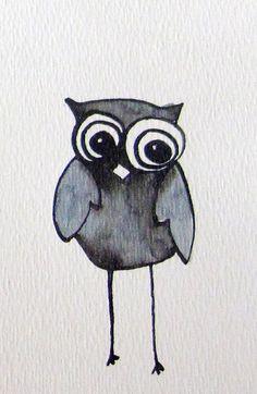 The Friendly Owl - Art Print by Jen Posford