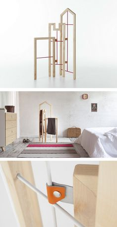 Solid #wood valet stand TUSCIAO by Formabilio | #design Andrea Brugnera @formabilio