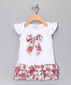 Pink Rose Bow Drop-Waist Dress - Infant, Toddler & Girls  http://www.zulily.com/invite/mmorten237