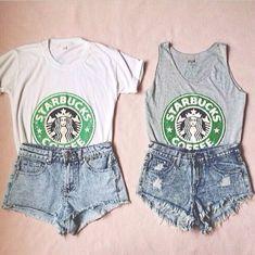 Starbucks outfits for BestFriend twinning days(: