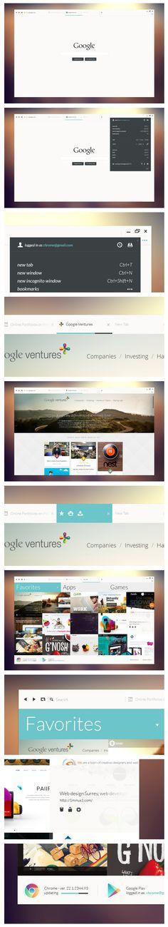 http://www.behance.net/gallery/Google-Chrome-Project/4456341 #minimal