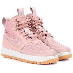 buy online 4c537 a3a1e Nike Nike Lunar Force 1 Duckboot Sneakers ( 198) ❤ liked on Polyvore  featuring shoes, sneakers, pink, pink sneakers, nike, nike shoes, pink  shoes and nike ...