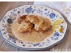 Receta Plato : Pollo con salsa de nata y limón por Azafrandehebra