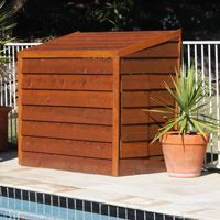 Pool Filter Enclosure Ideas we had rhys make our pool filter cover for our new pool in lake macquarie early last year and we are really really pleased with the design the Image Result For Pool Pump Cover