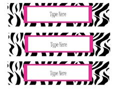Oodles of Teaching Fun: More Free Zebra Theme Items