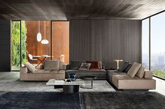 "Lawrence ""Clan"" seating system, Rodolfo Dordoni design. #minotti #furniture #lawrence #sofa #seatingsystem #2017collection #madeinitaly #homedecor"