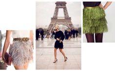 #todayinspiration las faldas de plumas! En Or Else la hemos hecho en color verde oliva y queda genial ;-) (www.orelse.es)