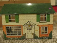 Vintage Marx 1960s 2 Story Tin Dollhouse Doll House w Boys Toy Soldier Room | eBay