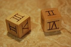 Week 1 & week 9--roman numeral dice - a good way to help the kids remember!