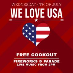 4th Of July Poster Flyer Social Media Graphic Design Template 4th