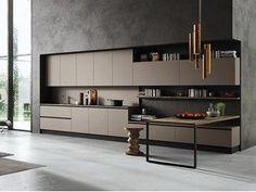 Cozinha linear com puxadores integrados EKO | Cozinha linear