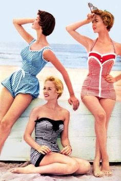 Dal sexy cutout al crochet, dal gingham al flower power, ecco tutte le ultimissime tendenze vintage per il costume più bello dell'estate 2021 Retro Swimwear, Vintage Swimsuits, Summer Swimwear, Women's Swimwear, Beachwear, Tankini Top, Modest Swimsuits, Simple Shirts, Bathing Beauties