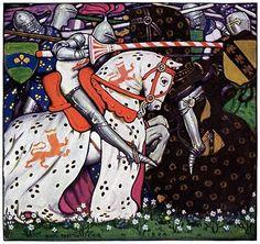 Walter Appleton Clark   The Caterbury Tales: The knight's tale: Palamon desireth to slay his foe Arcite (036)