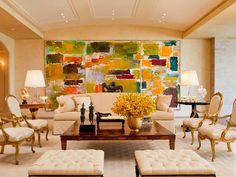 David Scott Interiors, LTD. - Desert Villa Living Room
