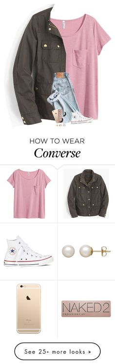 """RTD!! I need help!!!"" by kat-attack on Polyvore featuring H&M, J.Crew, Converse, Urban Decay and Honora"