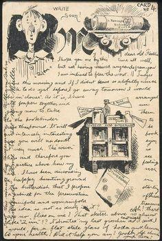 Lyonel Feininger postcard to 'dear old Freddie'