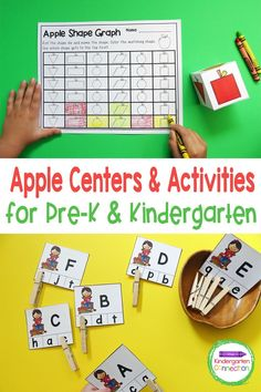 Take your apple theme to the next level with these ready to print and play Apple Activities and Centers for Pre-K & Kindergarten! These apple centers are a great way for students to develop math and literacy skills such as letter recognition, beginning sounds, sight words, colors, numbers, counting, shapes, and more! Apple Activities, Autumn Activities For Kids, Literacy Skills, Literacy Activities, Punctuation Activities, Apple Center, Upper And Lowercase Letters, Apple Theme, Kindergarten Centers