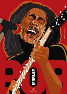 The legendary Bob Marley.  I designed this posters as a contribution to the International Reggae Poster Contest #reggaepostercontest