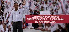 Continúan sumándose simpatizantes a la campaña de Antonio Luna