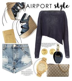 """""""My airport diary 💙"""" by teryblueberry ❤ liked on Polyvore featuring Stuart Weitzman, One Teaspoon, Crea Concept, Gucci, Michael Kors, Roberto Cavalli, Whiteley, GetTheLook and airportstyle"""