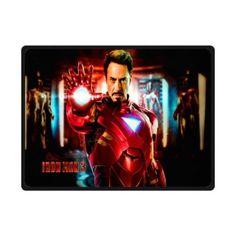"Custom Blanket 80""x58"" Iron Man in Action 366237"