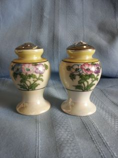 Vintage set of Pearlized Salt and Pepper Shakers Made In Japan 1950s. via Etsy.