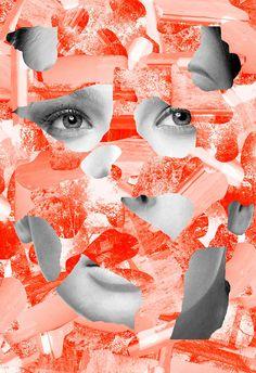 Créations kitsch et déjantées par Tyler Spangler Art Rouge, Kitsch Art, Tyler Spangler, Collage Techniques, Red Art, Photomontage, Collage Art, Graphic Illustration, Media Design