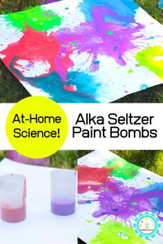 Make exploding paint rockets in this super fun summer STEM activity for kids! Make your summer activities filled with color with exploding paint bombs! Stem Projects, Science Projects, Projects For Kids, Crafts For Kids, Fun Crafts, Art Projects, Summer Preschool Activities, Stem Activities, Painting For Kids