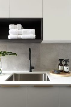 Types Of White Kitchen Splashback Tiles 62 Tiled Splashbacks You Shouldnt Be Afraid To Use In 2019 Verity with regard to Types Of White Kitchen Splashback Tiles Modern Laundry Rooms, Laundry In Bathroom, Bathroom Pink, Modern Room, Bathrooms, Kitchen Splashback Tiles, Kitchen Soffit, Splashback Ideas, Kitchen Sink