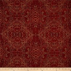 Robert Allen Promo Curtmantle Chenille Scarlet from @fabricdotcom  Refresh and…