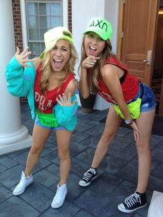 Alpha Chi Omega at UT Fresh Prince of Bel-Air Bid Day Theme but also just like the bright hats/cloths. Goes well with summer and beach Phi Sigma Sigma, Gamma Phi Beta, Alpha Chi Omega, Alpha Sigma Alpha, Kappa Delta, Phi Mu, Theta, Recruitment Themes, Sorority Recruitment