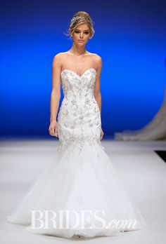 Brides.com: Mori Lee - Fall 2015%0AWedding dress by Mori LeePhoto: George Chinsee