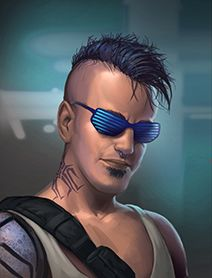 More Male Human Shadowrunner Portraits from Shadowrun Returns and Shadowrun: Dragonfall 1, 2 Humans Dwarves Elves Orks Trolls