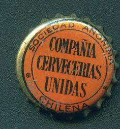 Compañia Cervecerias Unidas Sociedad Anonima Chilena Bottle Cap Beer Bottle Caps, Bottle Top, Tapas, Caption, Bicycle Kick, Ale, Note Cards, Crowns, Bottles