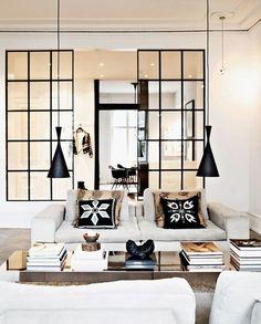 tabiques de vidrio - Separa ambientes con paneles y puertas de cristal