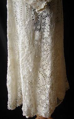Maria Niforos - Fine Antique Lace, Linens & Textiles : Antique & Vintage Clothing # CL-31 Exquisite Irish Crochet Coat