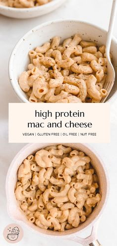 My go-to healthy vegan mac and cheese made with no nuts and no potatoes! This high protein recipe is made with only 10 ingredients and takes just about 10 minutes. This pasta recipe is vegan, gluten free, oil free and nut free. #vegan #glutenfree #veganmacandcheese #veganprotein #vegandinner #veganpasta #mealprep #breakfast #veganlunch #10minutemeal #nutfreevegan #dairyfree #highproteinmeals #oilfree #macandcheese #wfpb #tofurecipes #tofu