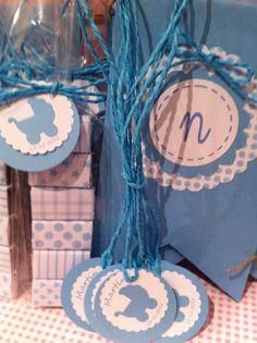 guirnalda banderin nombre, etiquetas personalizadas, paquetitos de chocolatinas
