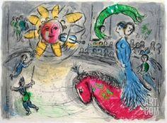 Dlm - Soleil Au Cheval Rouge Collectable Print