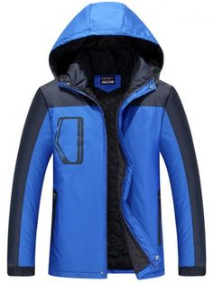 GET $50 NOW | Join RoseGal: Get YOUR $50 NOW!http://www.rosegal.com/mens-jackets/zippered-two-tone-hooded-padded-850482.html?seid=6906459rg850482