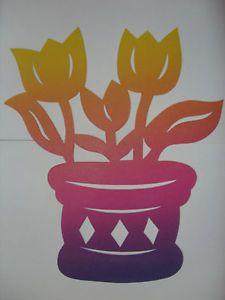 Fensterbild-Fruehling-Tonkarton-Tulpen-im-Topf-regenbogen-filigran