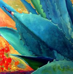 """""""Breaking Out"""" - Oil on Panel, in Agave Paintings"""