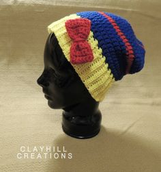 Crochet Snow White Inspired Slouchy Hat  by ClayhillCreations